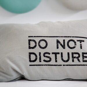 Do not disturb pillow