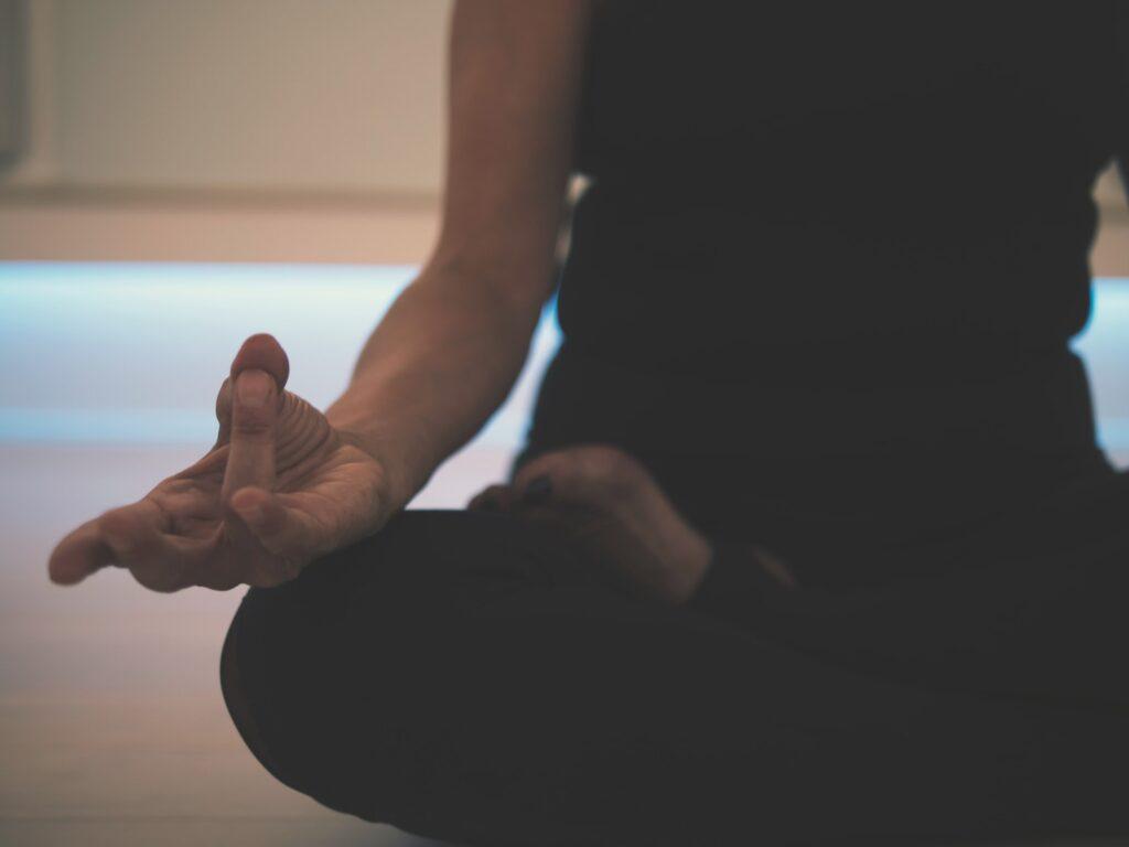 Sitting in meditation